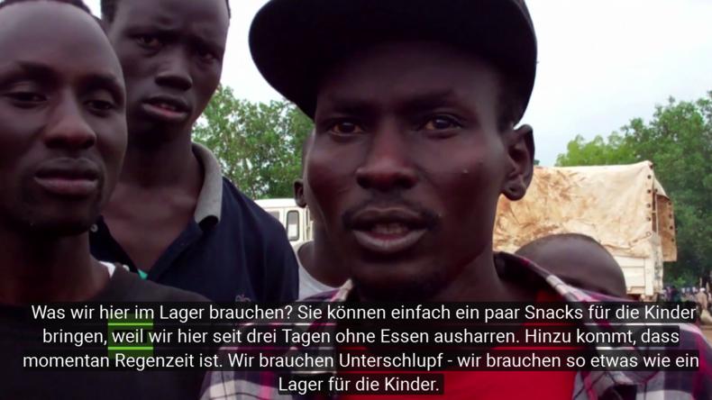 """Kämpfe im Südsudan sorgen für humanitäre Katastrophe: """"Wir schlafen Draußen, ohne Essen und Wasser!"""""""