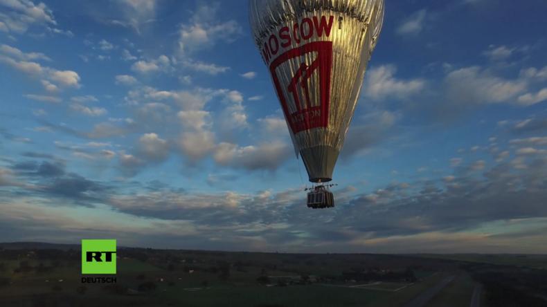 Russe startet Weltrekordversuch: In 13 Tagen mit einem Heißluftballon um die Welt