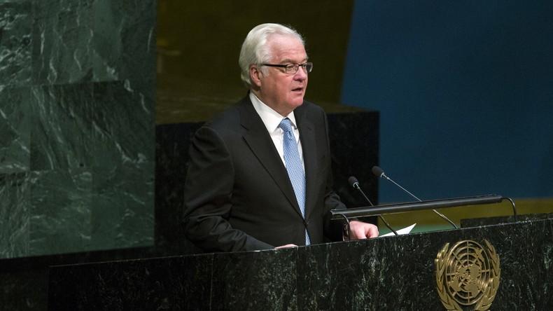 """Russischer UN-Botschafter Tschurkin: """"Russland wird Syriens Regierung weiterhin unterstützen"""""""