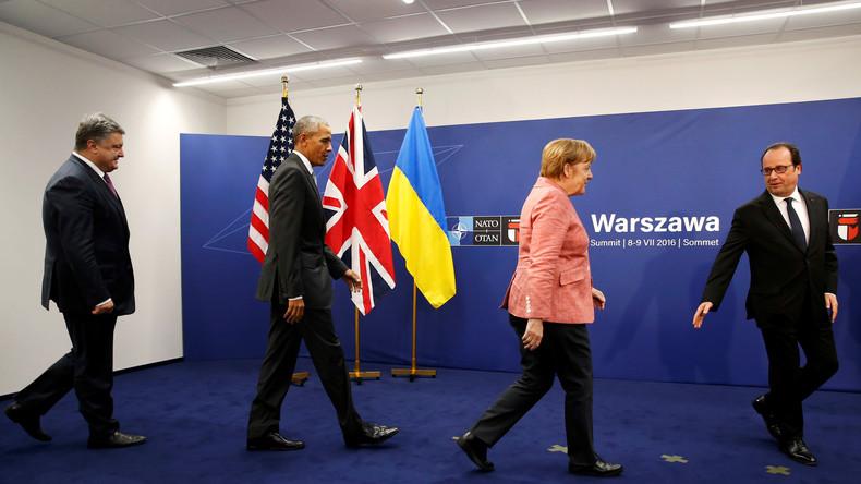 """In deutschen Medien freut man sich über die vermeintliche Entschlossenheit der NATO gegenüber der angeblichen """"russischen Gefahr"""". Tatsächlich deutet das Schlusskommuniqué jedoch darauf hin, dass die Scharfmacher ausgebremst worden sind."""