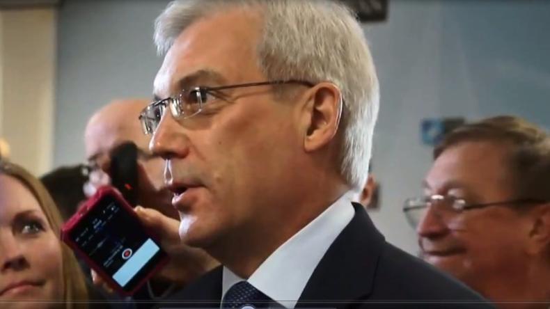 Live:  Russischer NATO-Botschafter Gruschko nach NATO-Russland-Rat in Brüssel - Pressekonferenz
