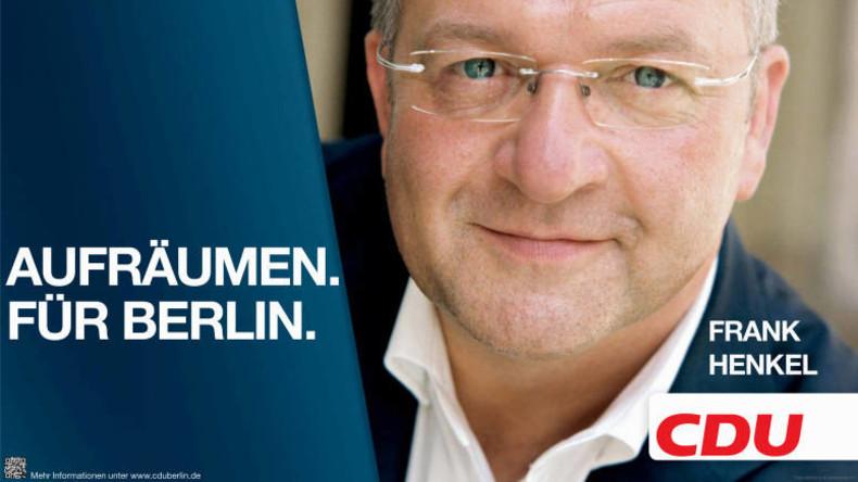 "CDU-Innensenator Henkel holt die Nazi-Keule raus: Linke Szene benutzt in Berlin ""SS-Methoden"""