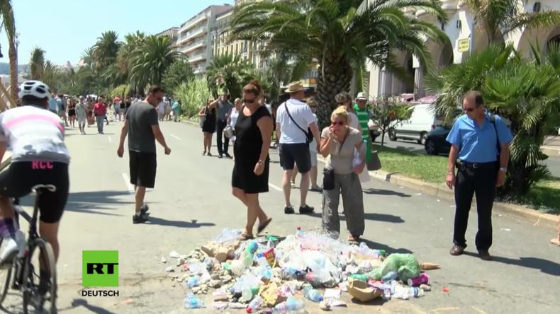 Nizza: Hier lag die Leiche des Attentäters – Passanten spucken auf Stelle und laden ihren Müll ab