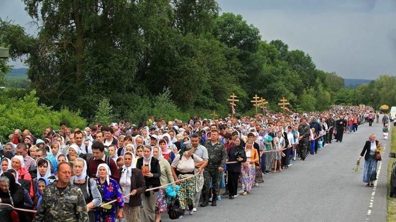 Ukraine: Nationalistische Politiker und Rechter Sektor machen Stimmung gegen Friedensprozession