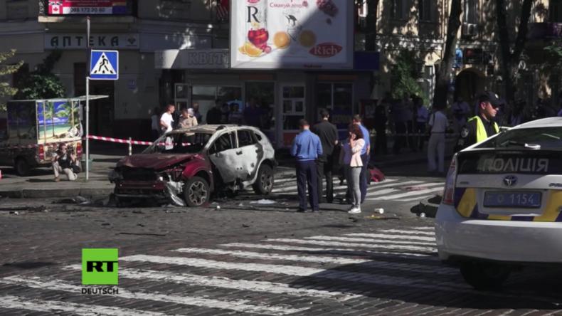 Bekannter ukrainischer Journalist durch Autobombe in Kiew getötet