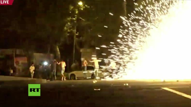 Geiseldrama in Armenien: Schwere Zusammenstöße zwischen Polizei und Protestierenden