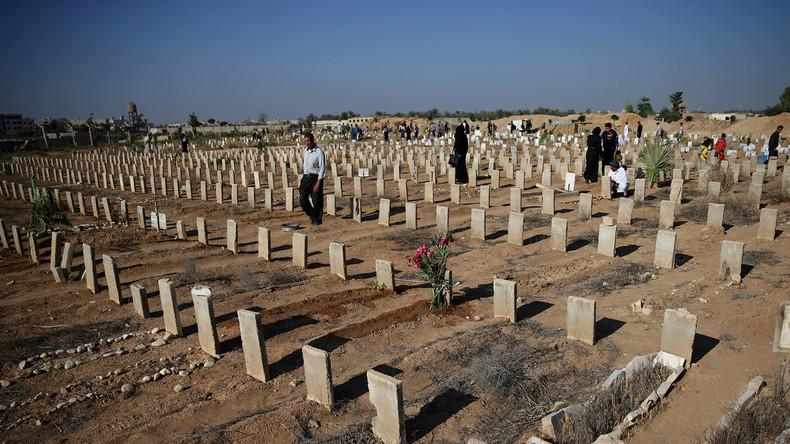 Die Folgen des Krieges: Friedhof in Syrien