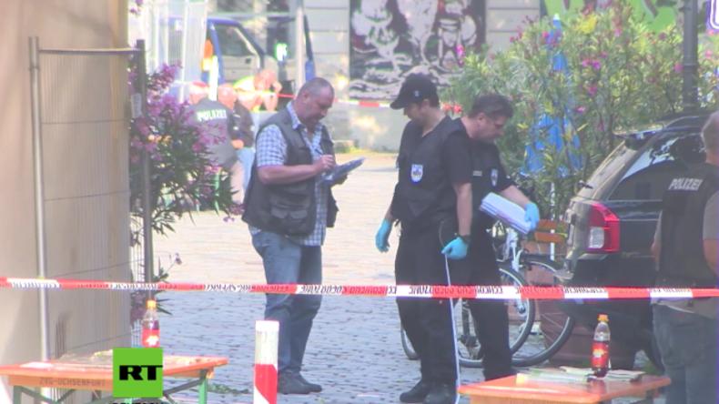 Spurensicherung nach Anschlag in Ansbach – Attentäter verstärkte Bombe mit Metallfragmenten