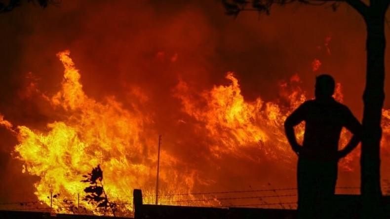 """""""Sabotage nicht ausgeschlossen"""" - Massiver Waldbrand bedroht NATO-Basis in der Türkei [Videos]"""