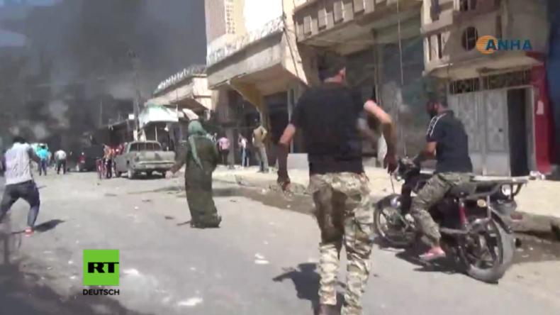 Syrien: Doppelbomben-Anschlag durch den IS tötet mindestens 50 Menschen nahe türkischer Grenze
