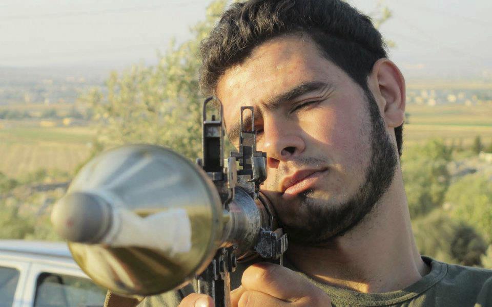 Mit freundlichen Grüßen aus den USA: Mitglieder der Freien Syrischen Armee erhalten Training an Panzerabwehrraketen, bei Armada, Idlib, im Juli 2012.