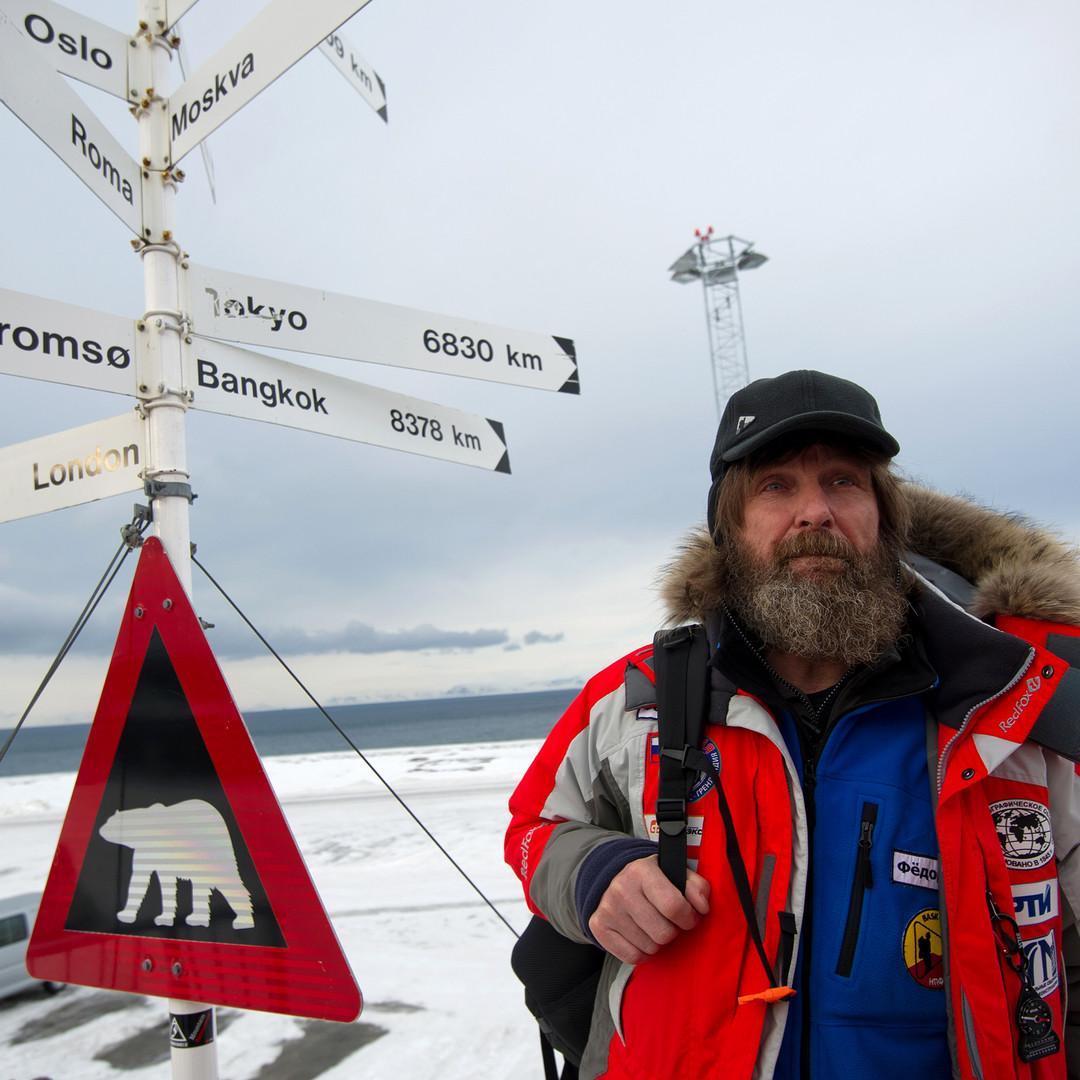 Fjodor Konjuchow auf der Insel Spitzbergen