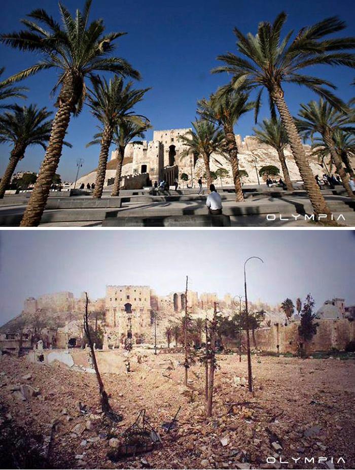 """Aleppo vor und nach der """"Revolution"""""""
