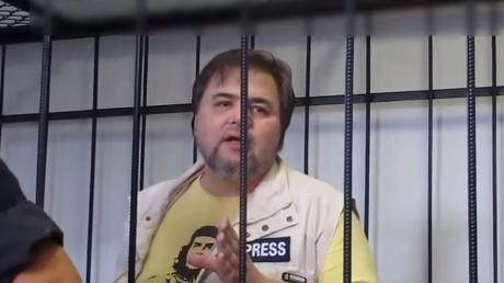 Ruslan Kotsaba im Gerichtssaal - Screenshot Swobodni Tschelowek