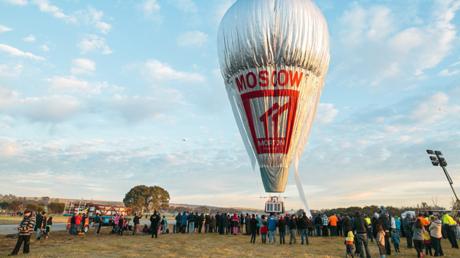Fjodor Konjuchow ist am Dienstagmorgen zu seinem Versuch aufgebrochen, mit einem Heißluftballon die Erde zu umrunden.