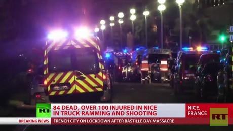 RT-Live-Berichterstattung zur Terrorattacke in Nizza mit über 80 Toten