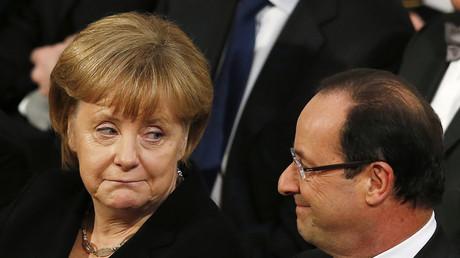 Hätte lieber ein anderes Volk - Merkel und Hollande...