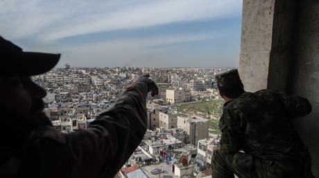 Soldaten der syrischen Armee in Aleppo.