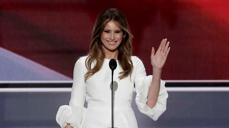 Nicht unbedingt kreativ beim Redenschreiben aber telegen: Donald Trumps Ehefrau Melania