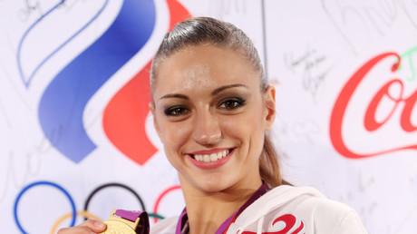 Yevgenia Kanaeva, Goldmedaillengewinnerin in Rhythmischer Gymnastik bei den Olympischen Spielen von London.