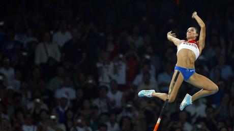 Russische Athletin bei den Spielen in Peking