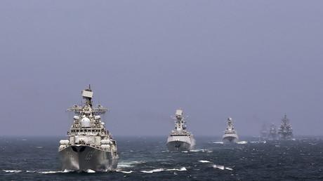 Russische und chinesische Marine bei einem Manövereinsatz im südchinesischen Meer