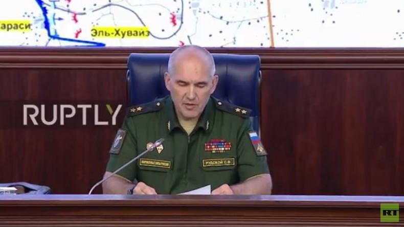 Live: Russisches Verteidigungsministerium gibt Lagebericht zu Syrien (englische Übersetzung)