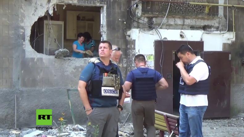 """Ukraine: """"Überall war Blut"""" - Ein Toter nach schwerem Beschuss im Donezk-Gebiet"""