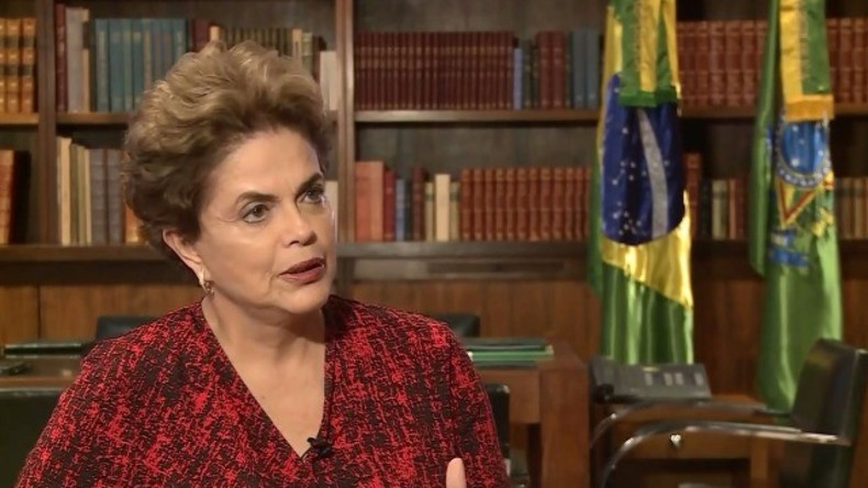 Dilma Rousseff im RT-Exklusivinterview im Mai 2016.