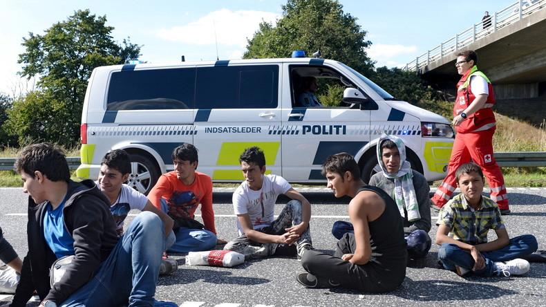 Zahlreiche Flüchtlinge versuchen von Dänemark nach Schweden zu gelangen.