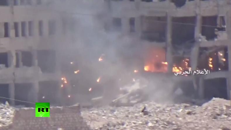 """Schlacht um Aleppo: Syrische Armee antwortet auf Angriff der """"Rebellen"""""""
