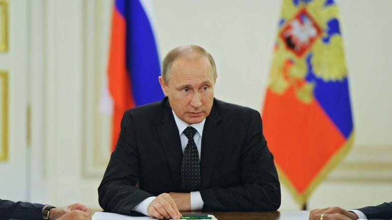 """Wladimir Putin: """"Man darf nicht Terrorgruppierungen für politische Interessen nutzen"""""""