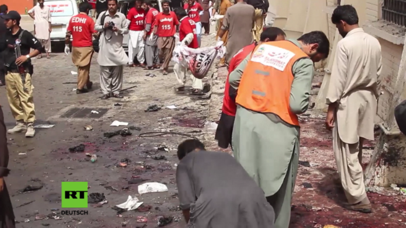 Pakistan: Selbstmordanschlag tötet mindestens 63 Menschen