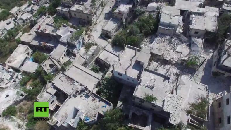 Syrien: Kinsabba ein Abbild des Krieges – Drohne filmt massive Zerstörung