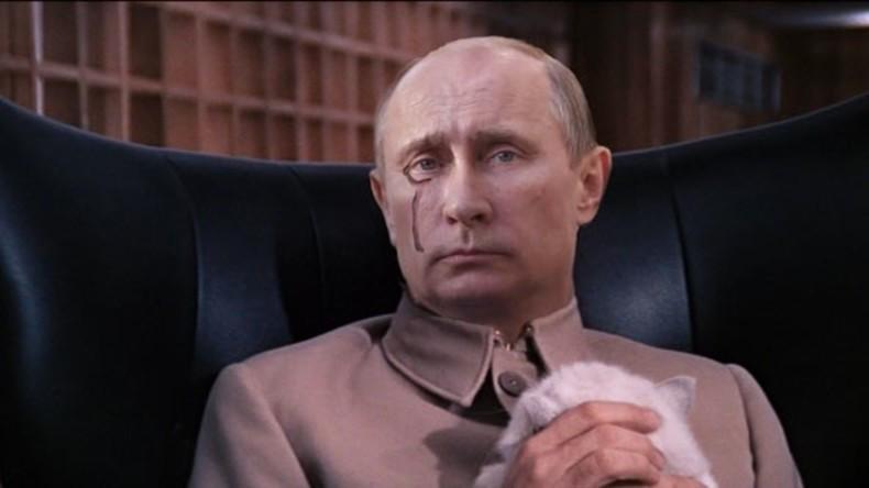 """Quell und Verantwortlicher aller Probleme des Westens: Wladimir """"Dr. Evil"""" Putin - so die Darstellung des Regierungs-Think Tanks SWP."""