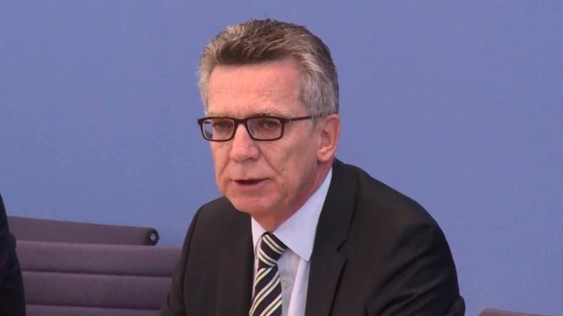 Live ab 12.00 Uhr: Innenminister De Maiziere stellt neue Sicherheitsmaßnahmen vor