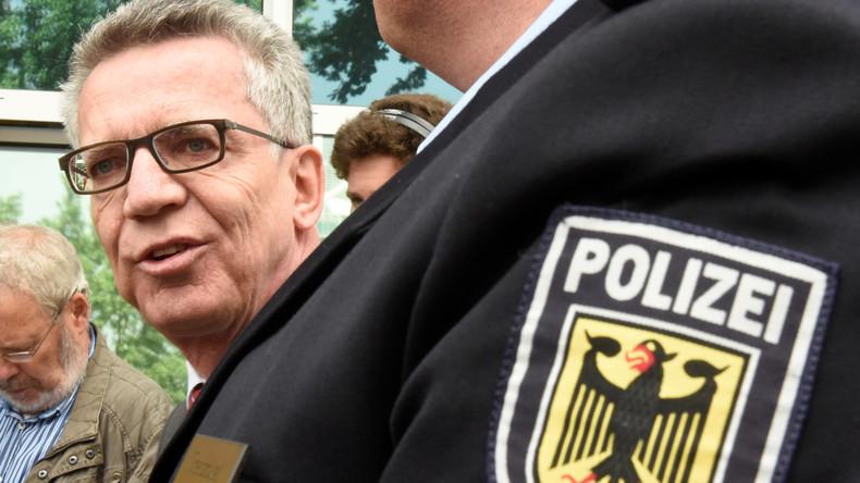 Innenminister de Maizière stellt neue Sicherheitsmaßnahmen vor