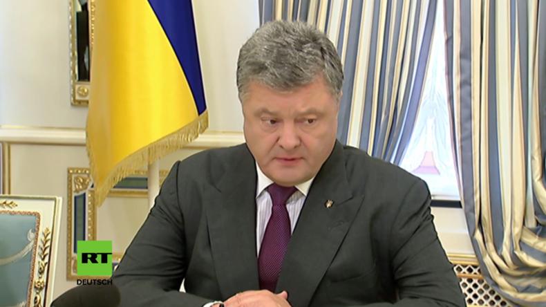 """Poroschenko: """"Zahlreiche Provokationen gegen Ukrainer"""" - Streitkräfte in höchster Kampfbereitschaft"""