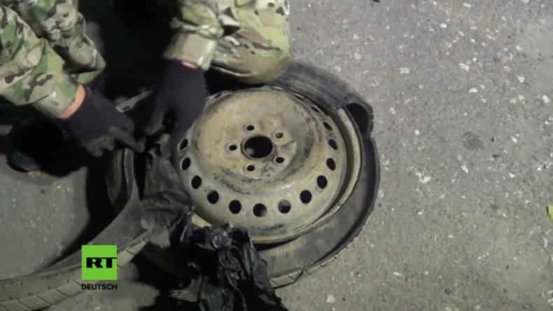 Vereitelte Attentate auf der Krim: FSB veröffentlicht weiteres Video von Sprengstoff-Fund