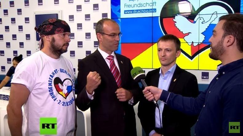 Friedensfahrt: RT Deutsch-Interview mit den Organisatoren in Moskau