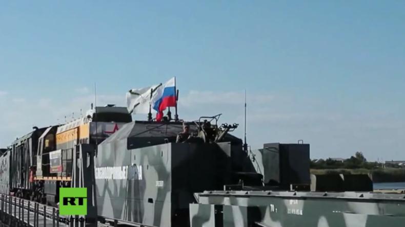 Russland: Erste Panzerzug-Übung auf russischem Boden nach 15 Jahren