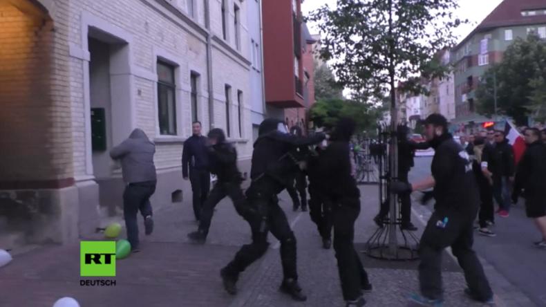 """Jena: Mehrere Antifa-Anhänger bei Protest gegen """"Thügida"""" verhaftet"""