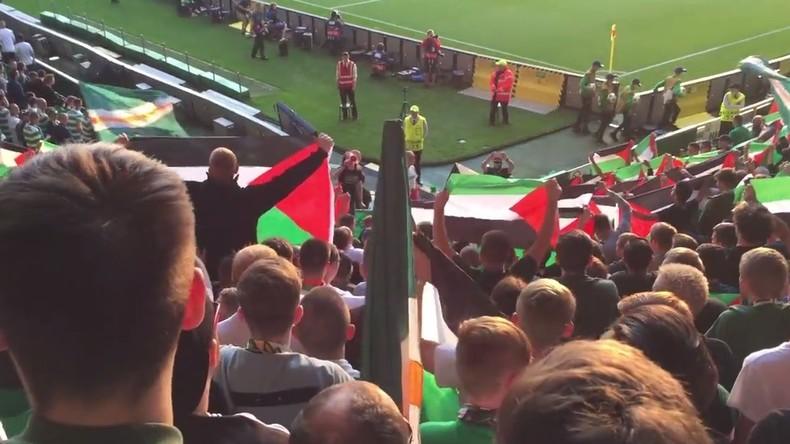 Für Israel eine Provokation: Celtic-Fans halten bei UEFA-Spiel palästinensische Flaggen hoch