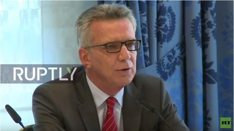 LIVE: Thomas de Maiziere gibt Pressekonferenz zu 'Berliner Erklärung'
