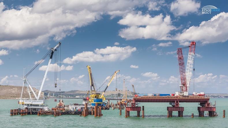 Bauarbeiten auf Hochtouren: So entsteht die Krim-Brücke