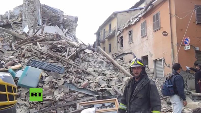 Mindestens 18 Tote, eingestürzte Häuser und Verschüttete – Schweres Erdbeben erschüttert Italien