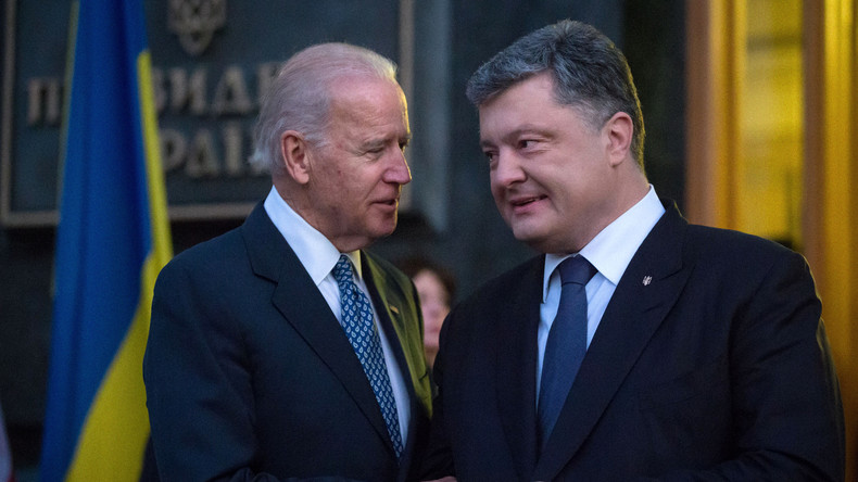 US-Vize Joe Biden soll Poroschenko mit einer Milliarde US-Dollar erpresst haben