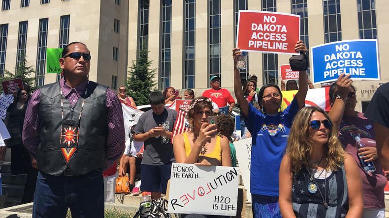 Dakota gegen Pipeline: Indianerproteste in Washington