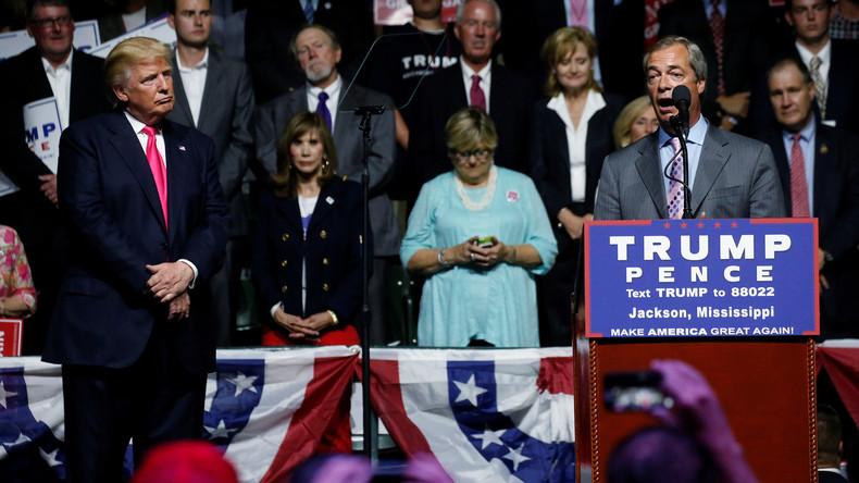 Brüder im Geiste: Donald Trump auf den Spuren von Mr. Brexit Nigel Farage