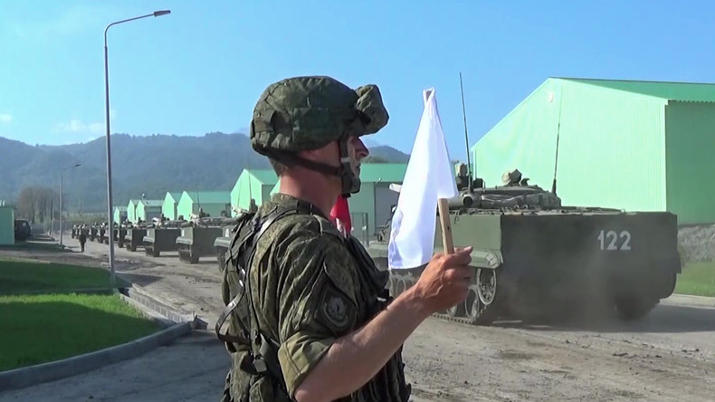 1.000 russische Militärs und Panzer testen Kampfbereitschaft in Südossetien